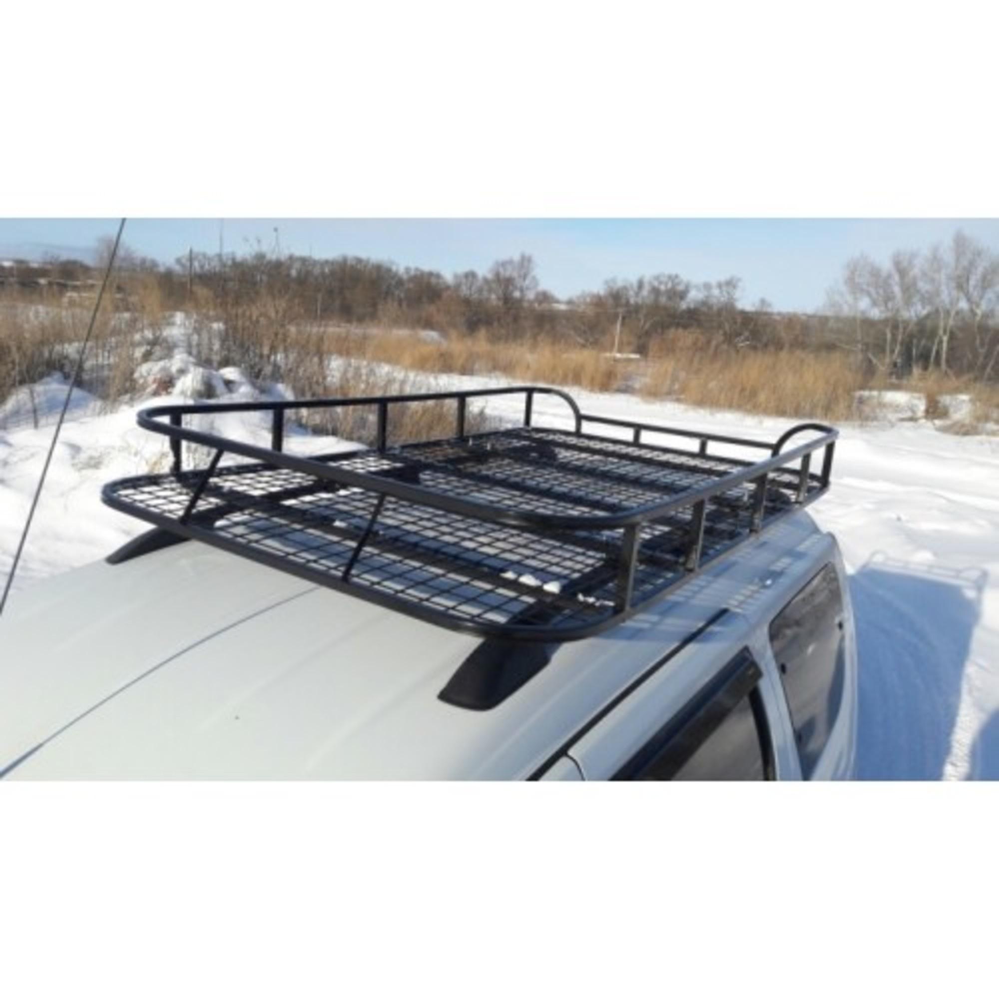Багажник на Ларгус ЭКСПИДИЦИЯ с сеткой (крепление на рейлинги или в места крепления рейлингов)