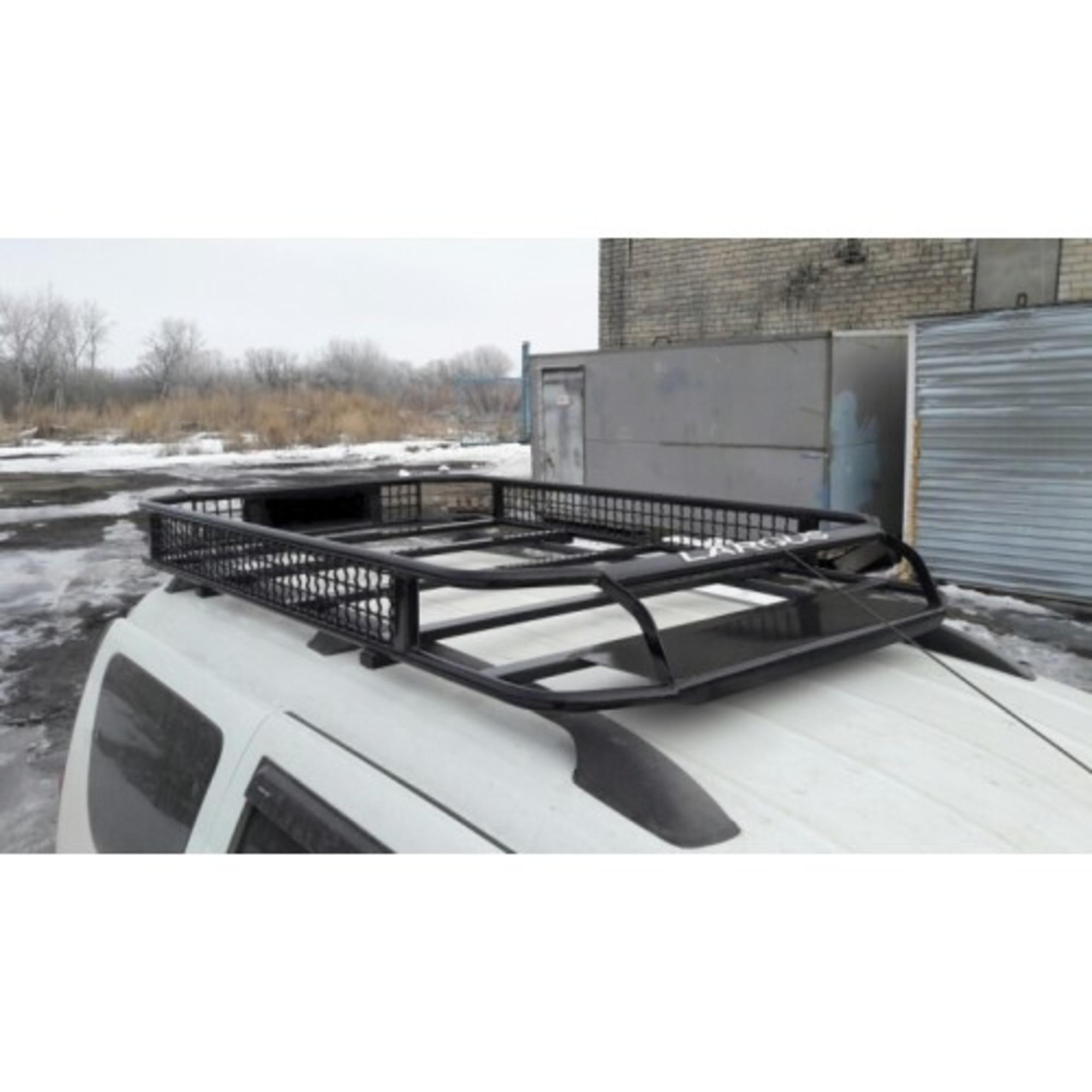 Багажник на Ларгус ВЕПРЬ (крепление на рейлинги или в места крепления рейлингов)