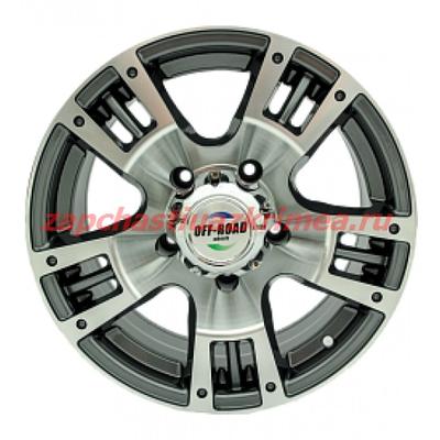 Диск УАЗ 5x139,7 8xR16 d110 (ET0) литой серый OFF-ROAD Wheels