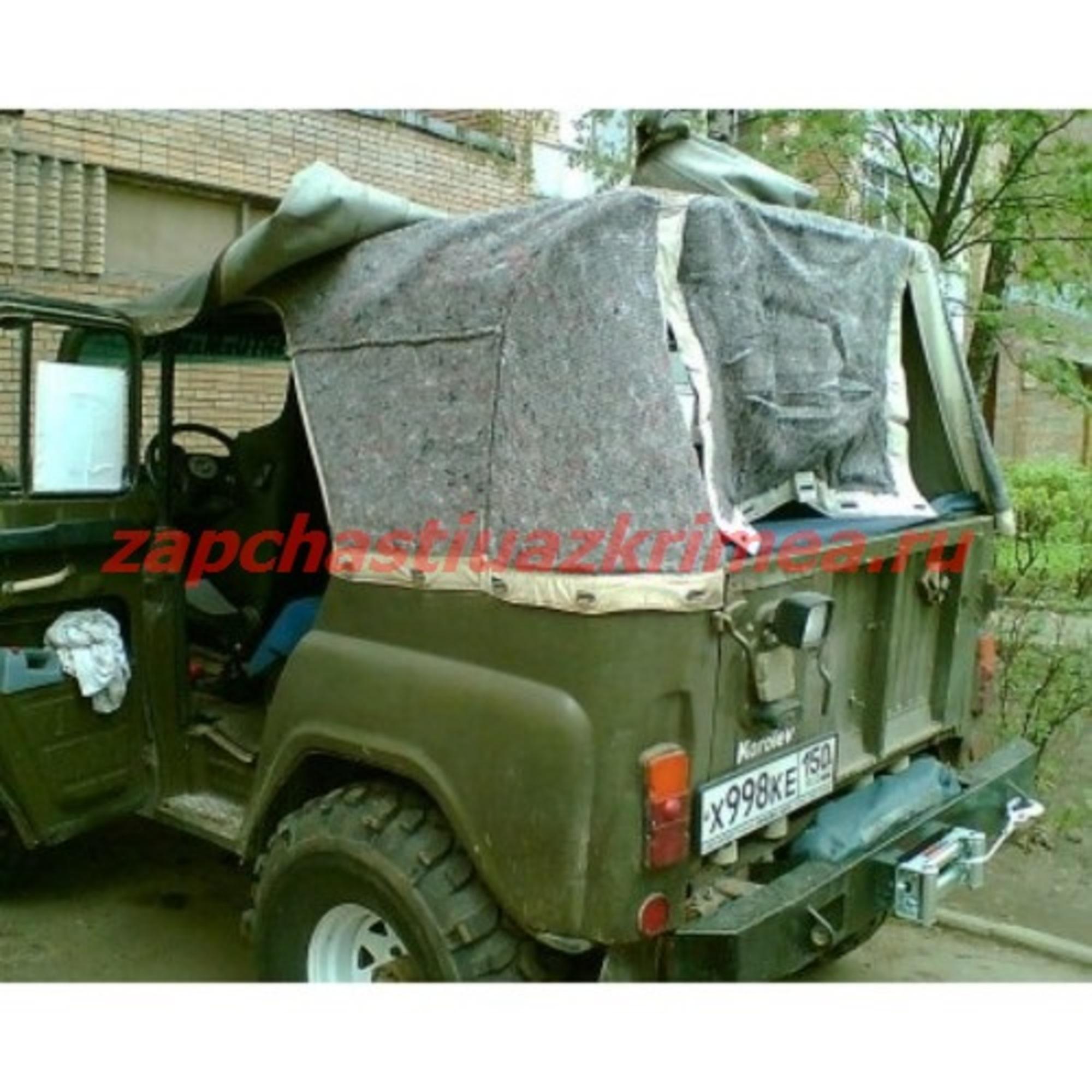 Утеплитель тента УАЗ 469 (с отверстием)