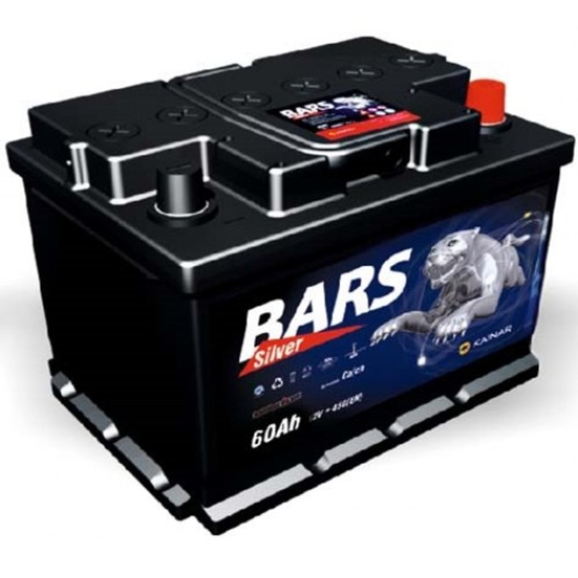 Аккумулятор 60 - 6 СТ BARS SILVER о.п. (АПЗ)