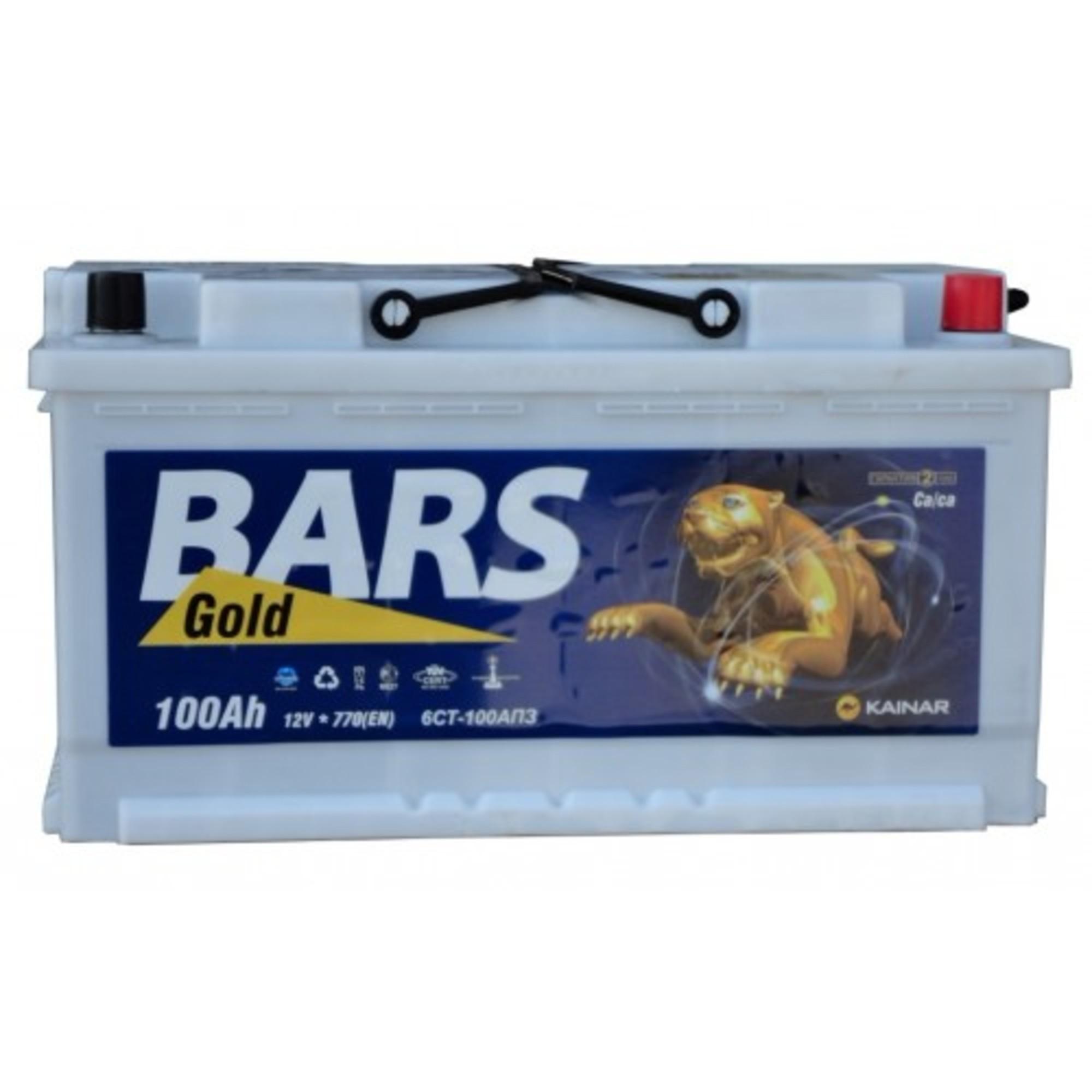 Аккумулятор 100 - 6 СТ BARS Gold о.п. (АПЗ)