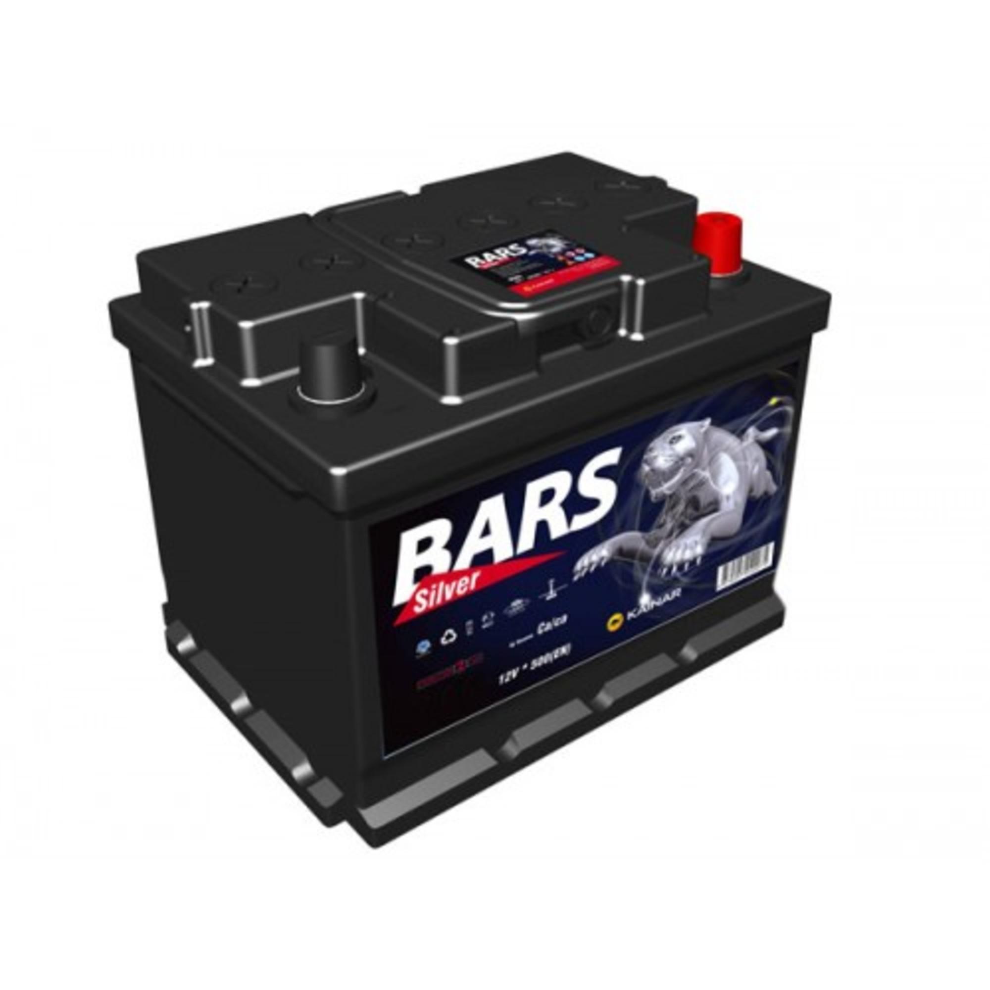 Аккумулятор 66 - 6 СТ BARS SILVER о.п. (АПЗ)