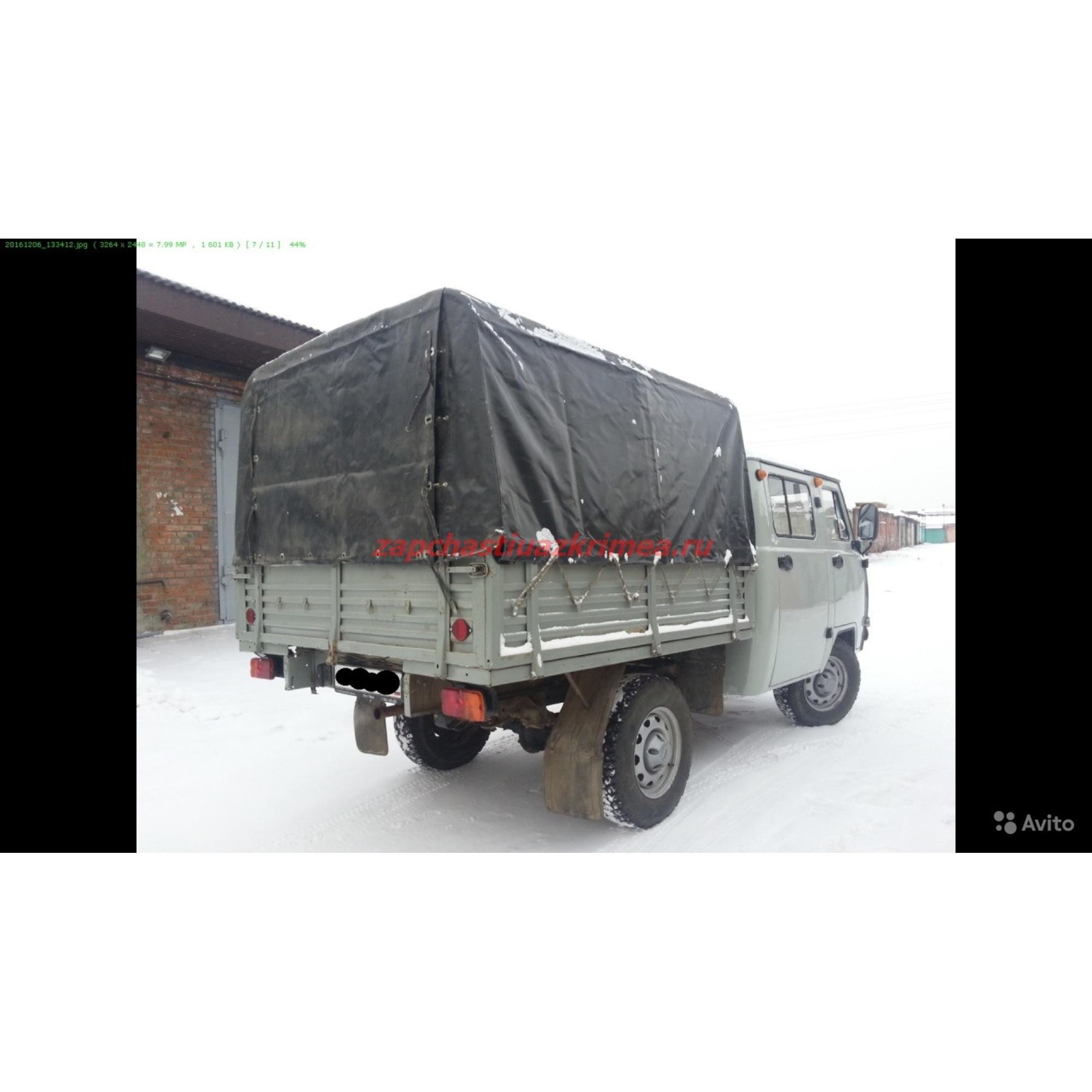 Тент УАЗ Фермер (нового образца 390945) Чёрный