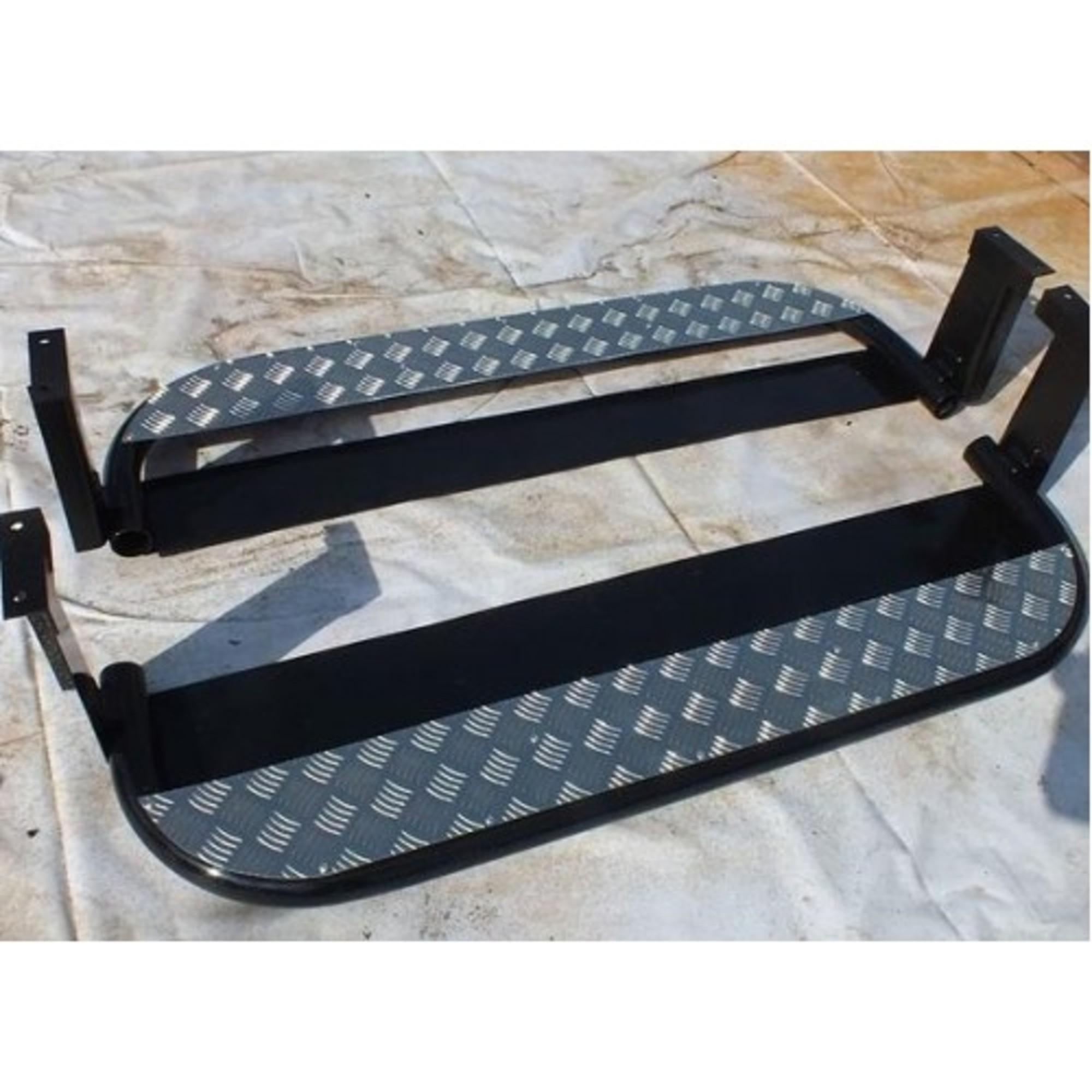Защита порогов уаз 452 с алюминиевой накладкой с защитой бензобаков