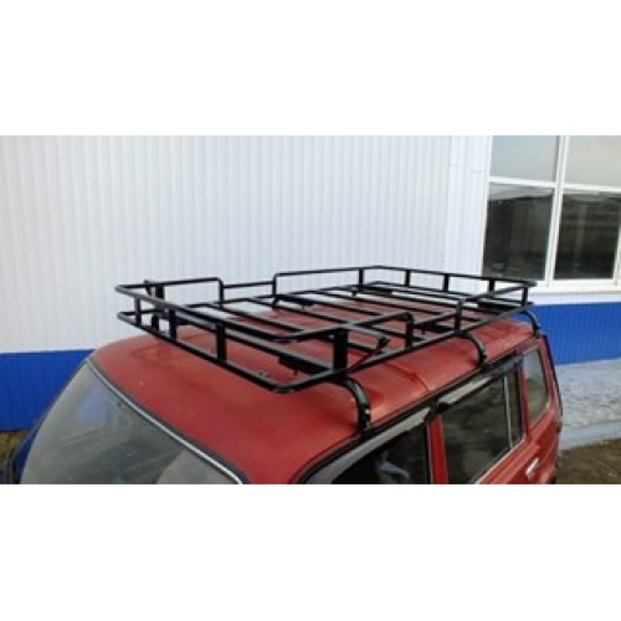Багажник на НИВУ 2131 БРАКОНЬЕР (6 опор) с кронштейнами фар