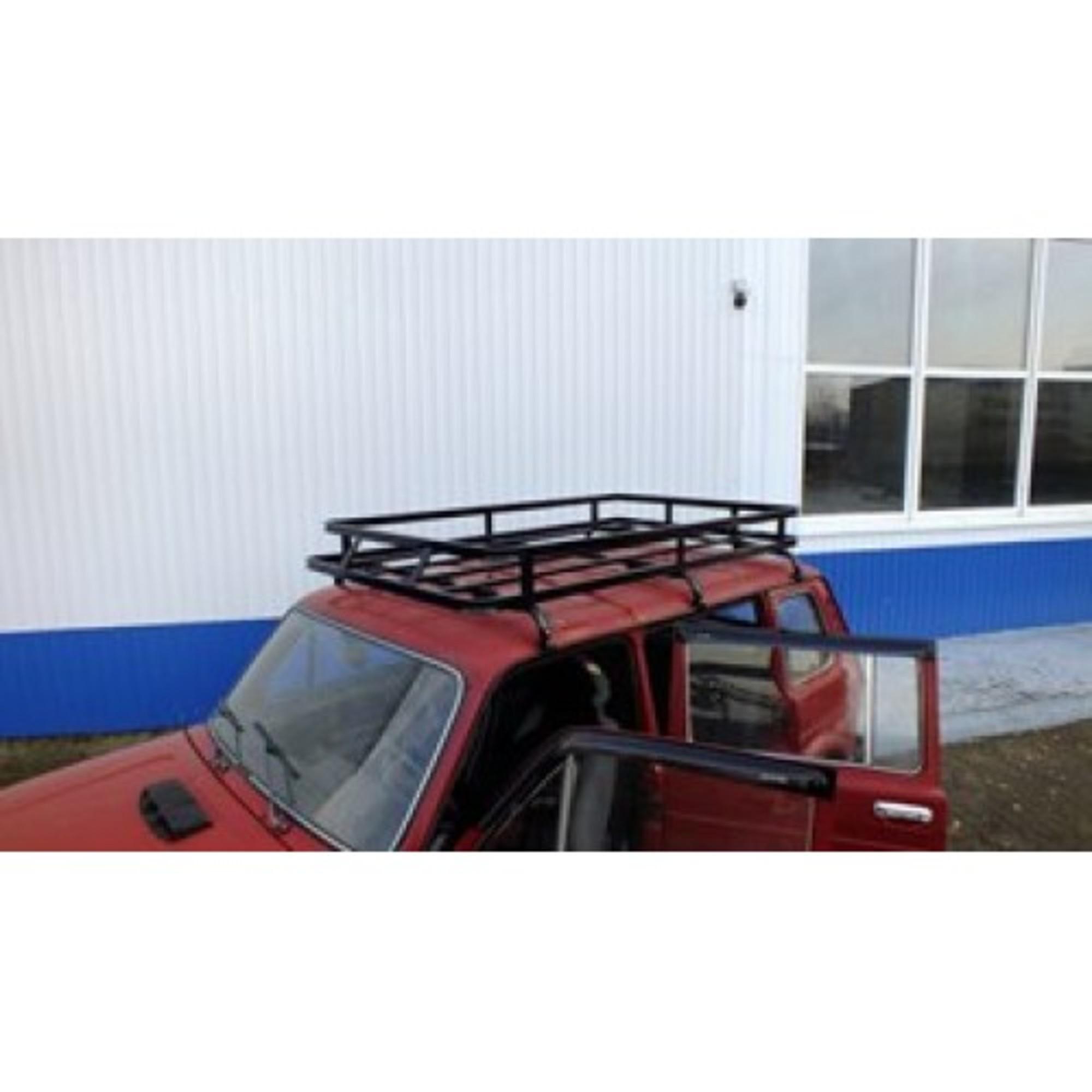 Багажник на НИВУ 2131 САХАЛИН (6 опор) с кронштейнами фар
