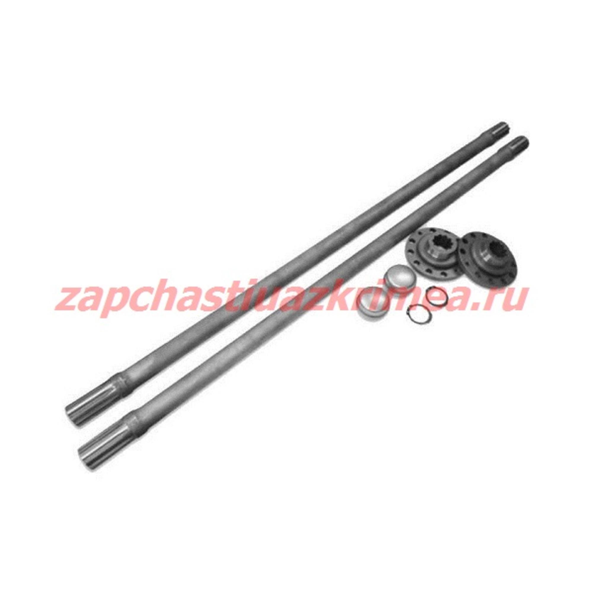 Комплект полуосей усиленных задний гибрибный мост УАЗ (875/736) ИЖ-ТЕХНО