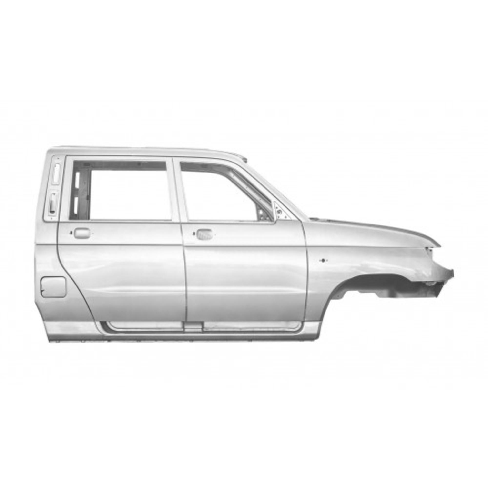 Каркас кузова (кабины) УАЗ-Пикап (жёлто-серебристый металлик)2363-00-5000032-91
