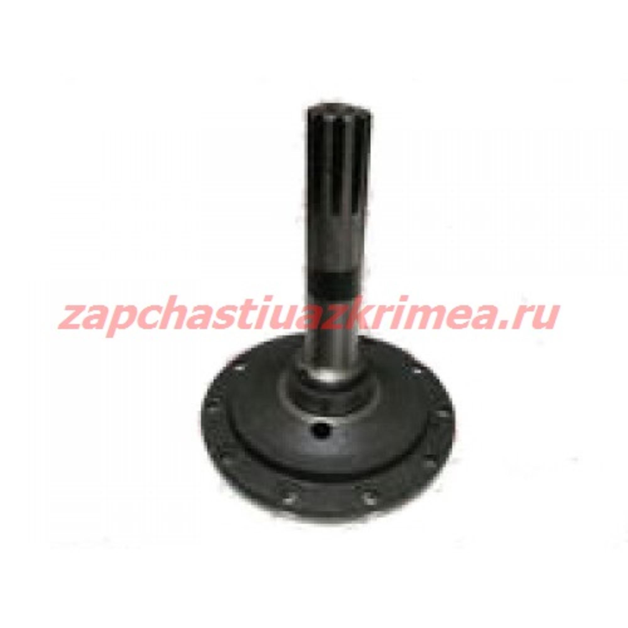 Вал ведомый шестерни колеcного редуктора УАЗ передний правый с точкой 0469-00-2307122-02